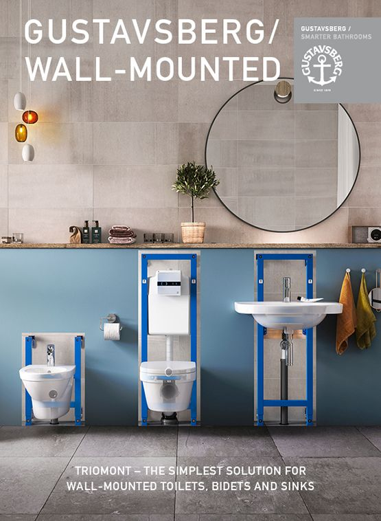 Bathroom fixtures brochure, the simplest solution for wall hung bathroom porcelain from Gustavsberg