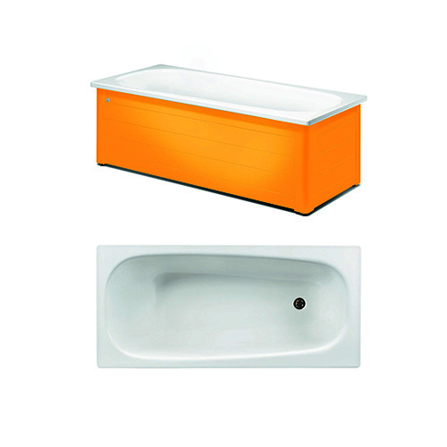 Bathtub with panels YH3 1600.With full panel, Crazy Orange