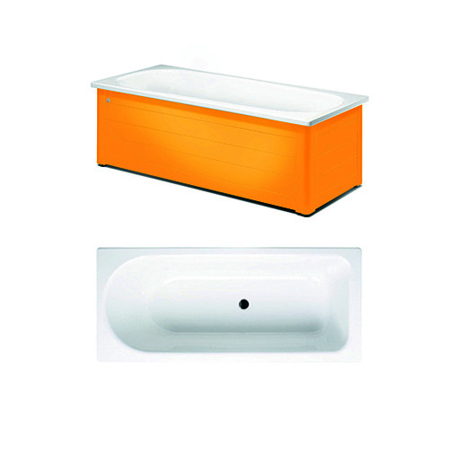 Bathtub with panels YH3 1607.With full panel, Crazy Orange