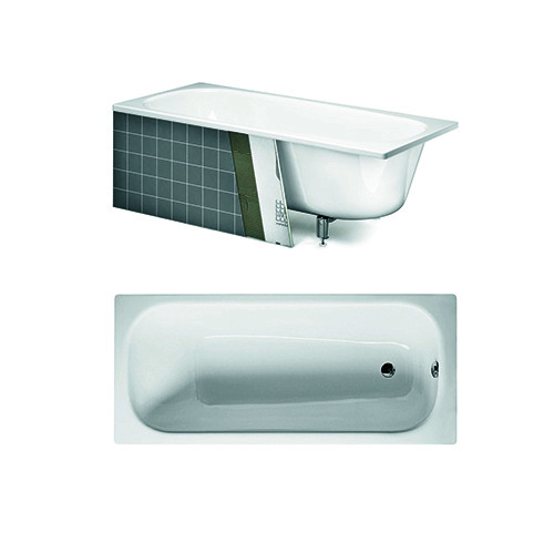 Built in bath YJ7 3600.With overflow hole and grab bar, with Glazeplus