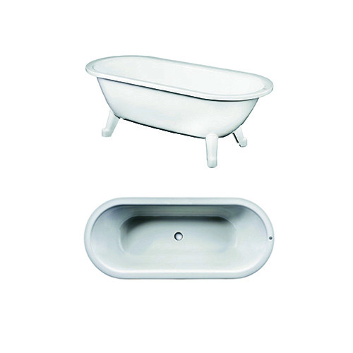 Freestanding bathtub YH3 6368.White, with Glazeplus, without feet