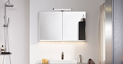 Bathroom mirror cabinets YK5 488810.Black Oak, with LED lighting