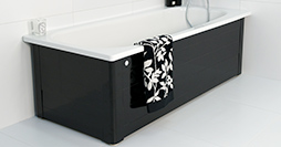 Bathtub with panels YH3 1600.With full panel, black