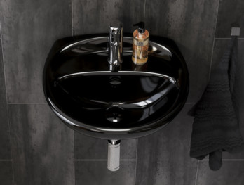 Small bathroom sinks ZZB 410350.Ceramicplus, black
