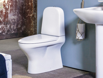 ZZB 8300.Dual flush 2/4L, Soft Close/Quick Release seat, Ceramicplus, for glueing, matte white