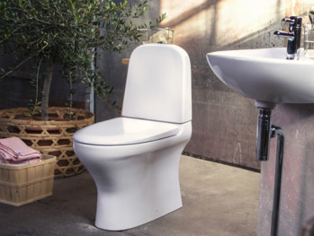 Toilets ZZB 8300.Dual flush 2/4L, Soft Close/Quick Release seat, Ceramicplus, white