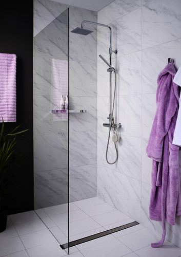 Shower set YK6 0002-UD-YK6-0002-T.Fixed ceiling shower, square, chrome