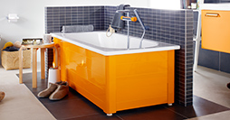 Bathtub with panels YH3 1570.With full panel, Crazy Orange