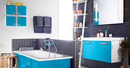 Bathroom cabinets YH4 1812.Moody Blue, without sink
