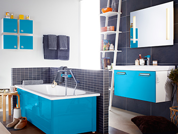 Bathroom cabinets YL1 1890.Moody Blue, without sink