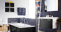 Bathroom cabinets YL1 1860.Sinful Black, without sink