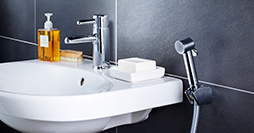 Bathroom sink faucets YL1 0002-UA-YL1-TM2264.With side sprayer and wall holder