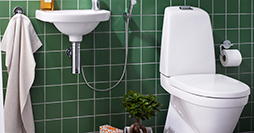 Toilets YS1 5500.Dual flush 4/2 L, hard seat with stainless steel fittings