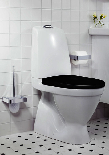 Toilets YS1 5500.Single flush 4 L, hard seat with lid with stainless steel fittings, Ceramicplus