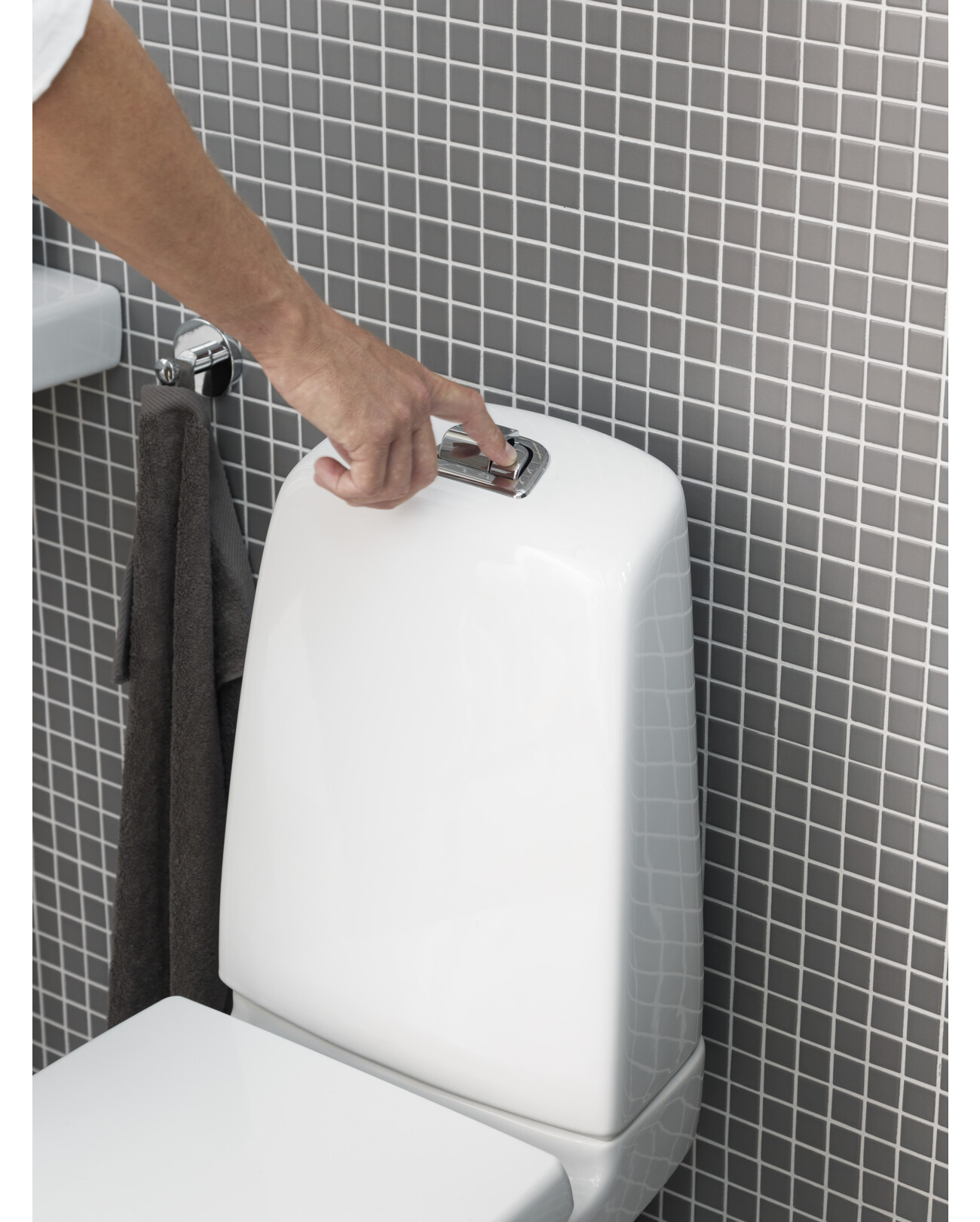 YS1 5500L.Dual flush 2/4 L, without seat, Ceramicplus