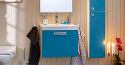 Bathroom cabinets YL1 1860.Moody Blue, without sink