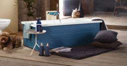 Bathtub with panels YH3 1607.With full panel, Moody Blue