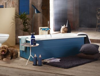Bathtub with panels YH3 1570.With full panel, Moody Blue