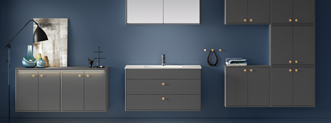 Bathroom furniture from Graphic bathroom collection - Gustavsberg