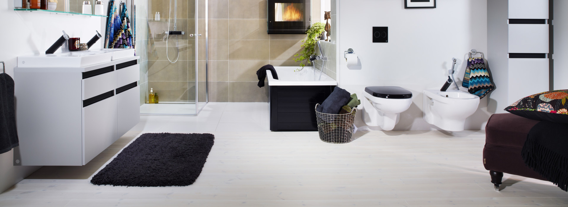 A large and spacious bathroom - Gustavsberg