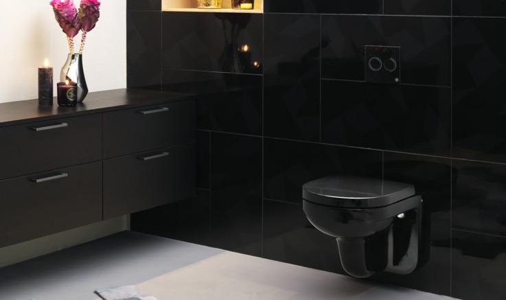 Svart badrum - Ett stilrent val för badrumsinredning