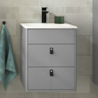 Bathroom cabinet from the Graphic bathroom range, Gustavsberg