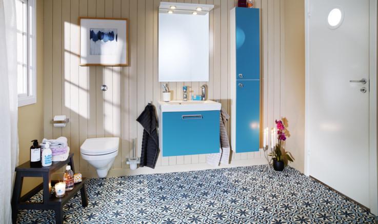 Litet badrum med logiskt tänk - Gustavsberg