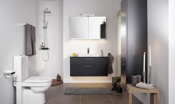Badrum badrum litet : Litet badrum med logiskt tänk - Gustavsberg