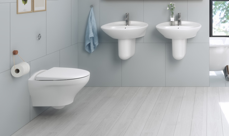 Wall hung toilet with Hygienic Flush Gustavsberg