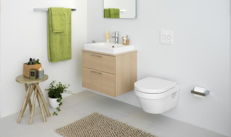 Hygienic Flush wall -hung toilet interior Gustavsberg