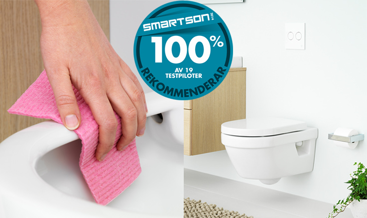 Wall-mounted toilet with Smartson warranty