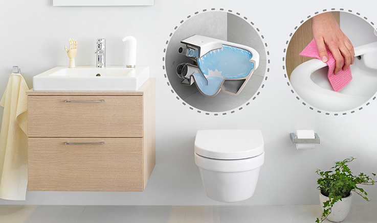 Wall-hung toilet with Hygienic Flush Gustavsberg