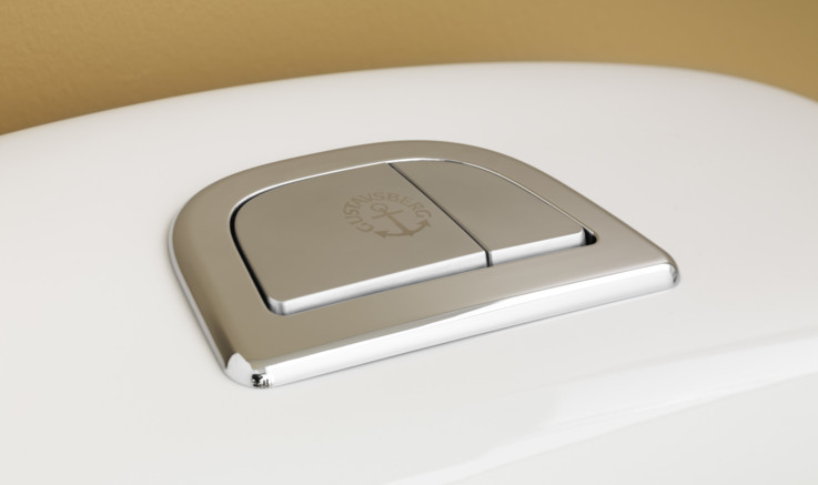 Toilet flush button - toilet with hygienic flush - gustavsbergToilet flush button - toilet with hygienic flush - Gustavsberg